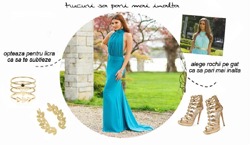 Cum iti alegi rochia potrivita ca sa pari mai inalta?