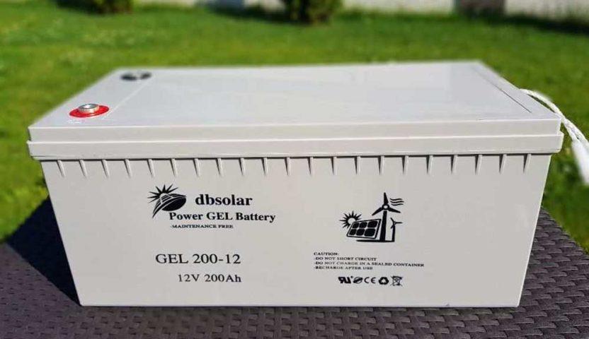 Acumulatori cu gel pentru panourile fotovoltaice