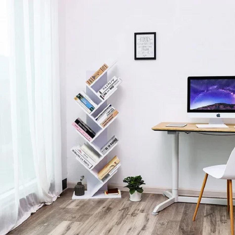 Raft de cărți Zig Zag frumos și ordonat pentru confortul tău